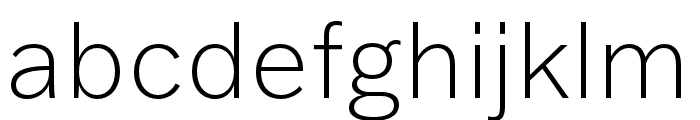 Franklin Gothic ATF Extra Light Font LOWERCASE
