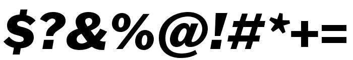 Franklin Gothic ATF Heavy Italic Font OTHER CHARS