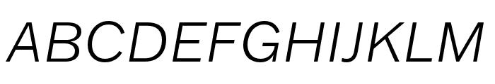Franklin Gothic ATF Light Italic Font UPPERCASE