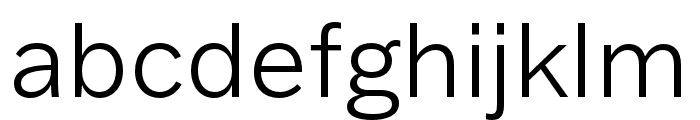 Franklin Gothic ATF Light Font LOWERCASE