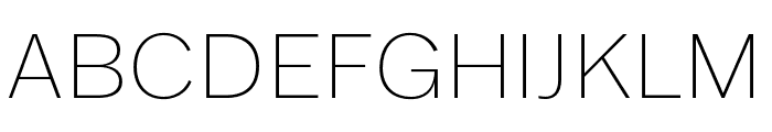 Franklin Gothic ATF Thin Font UPPERCASE