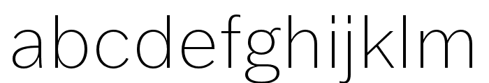 Franklin Gothic ATF Thin Font LOWERCASE