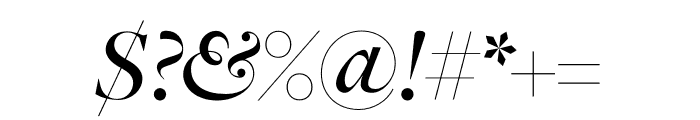 FreightDisp Pro Medium Italic Font OTHER CHARS