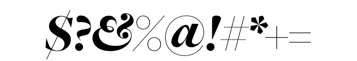 FreightMacro Pro Black Italic Font OTHER CHARS