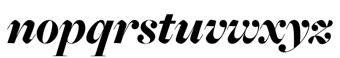 FreightMacro Pro Black Italic Font LOWERCASE