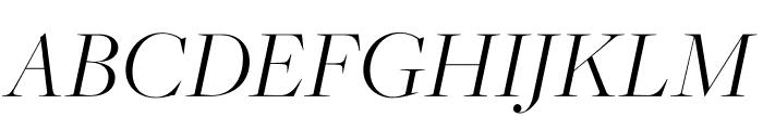 FreightMacro Pro Light Italic Font UPPERCASE