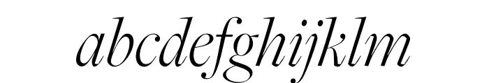 FreightMacro Pro Light Italic Font LOWERCASE
