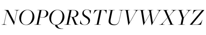 FreightMicro Pro Book Italic Font UPPERCASE