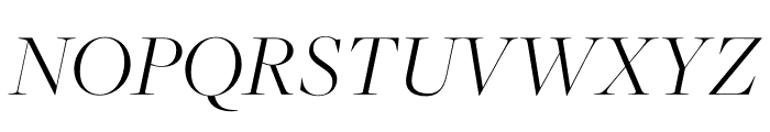 FreightMicro Pro Light Italic Font UPPERCASE
