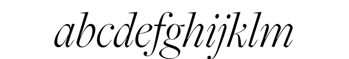 FreightMicro Pro Light Italic Font LOWERCASE