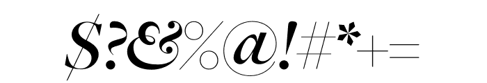 FreightMicro Pro Semibold Italic Font OTHER CHARS