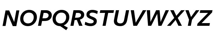 FreightSansCmpPro Semi Italic Font UPPERCASE
