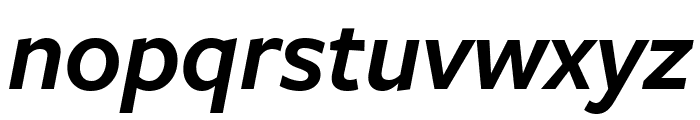 FreightSansCmpPro Semi Italic Font LOWERCASE