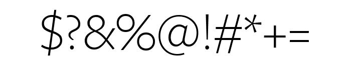 FreightSansCndPro Light Font OTHER CHARS
