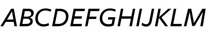 FreightSansCndPro Med Italic Font UPPERCASE