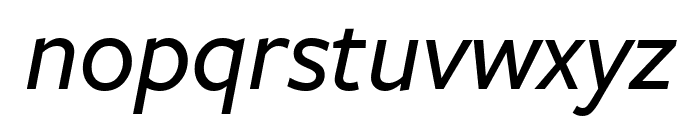FreightSansCndPro Med Italic Font LOWERCASE