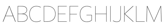FreightSansHCmpPro Hairline Font UPPERCASE
