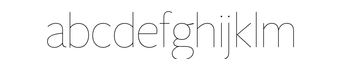 FreightSansHCmpPro Hairline Font LOWERCASE