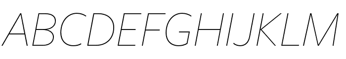 FreightSansHCmpPro Thin Ita Font UPPERCASE