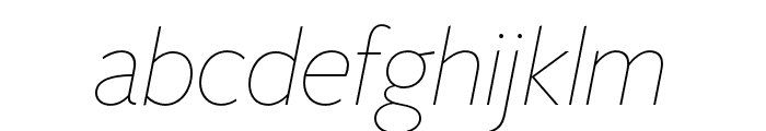 FreightSansHCmpPro Thin Ita Font LOWERCASE