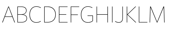 FreightSansHCmpPro Thin Font UPPERCASE