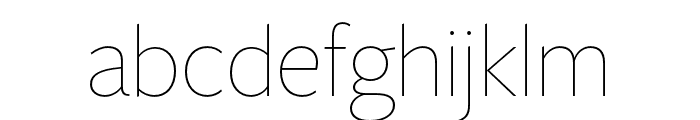 FreightSansHCmpPro Thin Font LOWERCASE