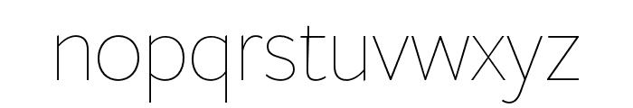 FreightSansHPro Thin Font LOWERCASE