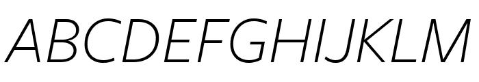 FreightSansHPro XLight Ita Font UPPERCASE