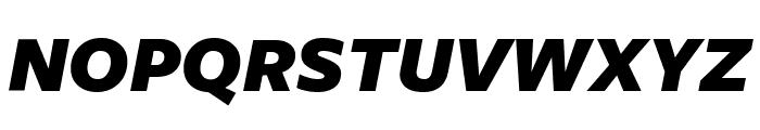 FreightSansUCmpPro UltraBlack Italic Font UPPERCASE