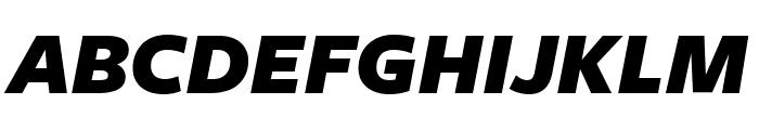 FreightSansUCndPro UltraBlack Italic Font UPPERCASE