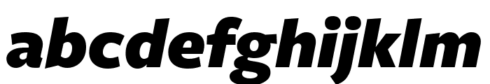 FreightSansUCndPro UltraBlack Italic Font LOWERCASE