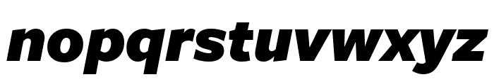 FreightSansUPro UltraBlack Italic Font LOWERCASE