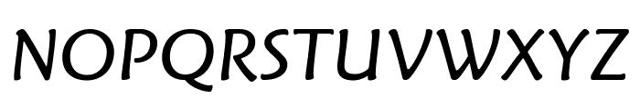 Fritz BookItalic Font UPPERCASE