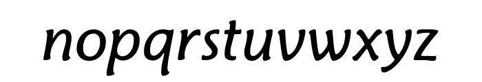 Fritz BookItalic Font LOWERCASE