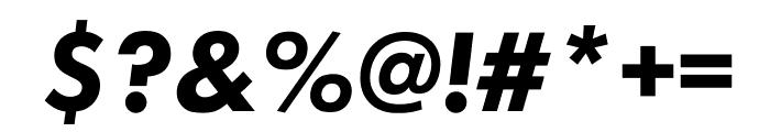 Futura PT Bold Oblique Font OTHER CHARS