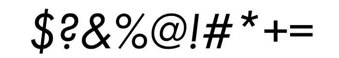 Futura PT Cond Book Oblique Font OTHER CHARS