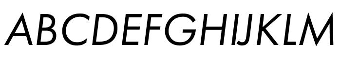 Futura PT Cond Book Oblique Font UPPERCASE
