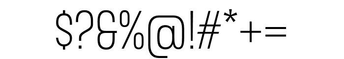 Gala Condensed Light Font OTHER CHARS
