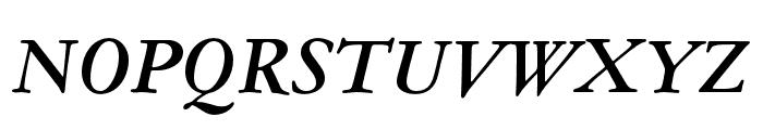 Garamond ATF Subhead Bold Italic Font UPPERCASE