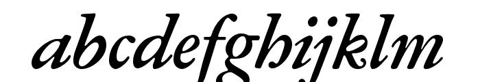 Garamond ATF Subhead Bold Italic Font LOWERCASE