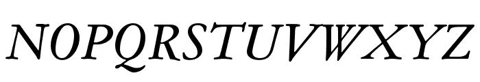 Garamond ATF Text Italic Font UPPERCASE