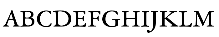 Garamond ATF Text Regular Font UPPERCASE