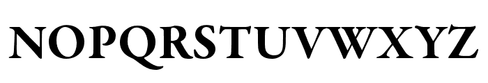 Garamond Premier Pro Bold Display Font UPPERCASE