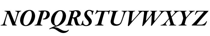 Garamond Premier Pro Bold Italic Display Font UPPERCASE
