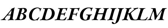 Garamond Premier Pro Bold Italic Font UPPERCASE