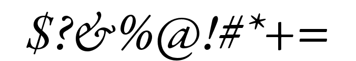 Garamond Premier Pro Italic Subhead Font OTHER CHARS