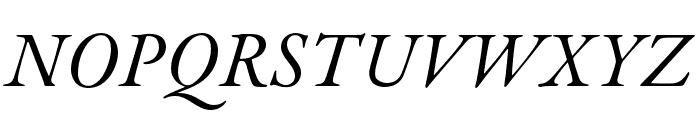 Garamond Premier Pro Italic Subhead Font UPPERCASE