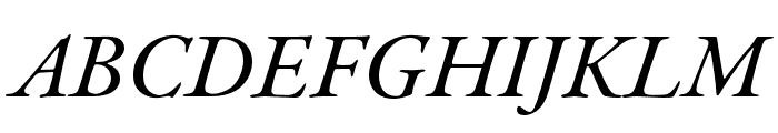 Garamond Premier Pro Medium Italic Display Font UPPERCASE