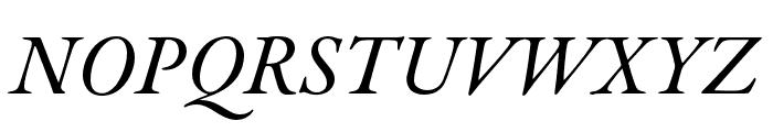 Garamond Premier Pro Medium Italic Subhead Font UPPERCASE