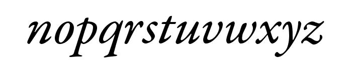 Garamond Premier Pro Medium Italic Subhead Font LOWERCASE